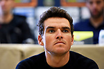 Greg Van Avermaet (BEL) BMC Racing Team at the top riders press conference on the eve of the race of the two seas, 52nd Tirreno-Adriatico by NamedSport running from the 8th to 14th March, Italy. 7th March 2017.<br /> Picture: La Presse/Fabio Ferrari | Cyclefile<br /> <br /> <br /> All photos usage must carry mandatory copyright credit (&copy; Cyclefile | La Presse)