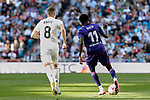 Real Madrid's Toni Kroos and Real Club Celta de Vigo's Pione Sisto during La Liga match between Real Madrid and Real Club Celta de Vigo at Santiago Bernabeu Stadium in Madrid, Spain. March 16, 2019. (ALTERPHOTOS/A. Perez Meca)