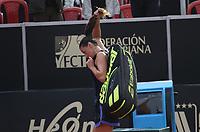 BOGOTÁ -COLOMBIA, 11-04-2018:Mariana Duque de Colombia perdió con la rumana Ana Bogdan   ,durante el Claro Open Colsánitas WTA  international event que se juega en El Club Los Lagartos al norte de la Capital ./  Mariana Duque (Col) lost with the Romanian Ana Bogdan , during the Claro Open Colsánitas WTA international event that is played at El Club Los Lagartos north of the Capital. Photo: VizzorImage/ Felipe Caicedo / Staff