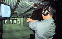 - scuola scorte della Polizia di Stato ad Abbasanta (Oristano), poligono di tiro interno<br /> <br /> -  State Police escort school at Abbasanta (Oristano), inside shooting range