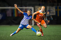 Allston, MA - Wednesday Aug. 31, 2016: Kylie Strom, Janine Beckie during a regular season National Women's Soccer League (NWSL) match between the Boston Breakers and the Houston Dash at Jordan Field.