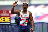 Chijindu Ujah of Great Britain after competing in the menís 100 metres during the Muller Anniversary Games at The London Stadium on 9th July 2017