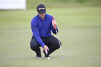 Andrew McArthur (SCO) works out the line of the putt during Round Two of the 2015 Nordea Masters at the PGA Sweden National, Bara, Malmo, Sweden. 05/06/2015. Picture David Lloyd | www.golffile.ie
