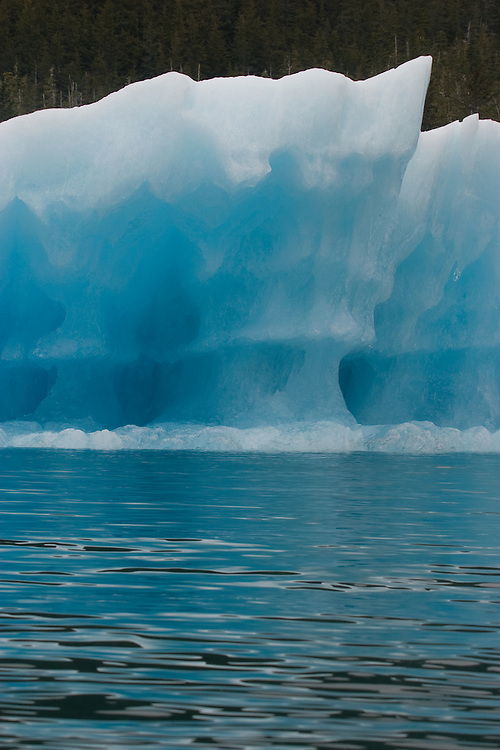Alaska, Prince William Sound, USA, Blue ice, Iceberg detail, Columbia Bay,