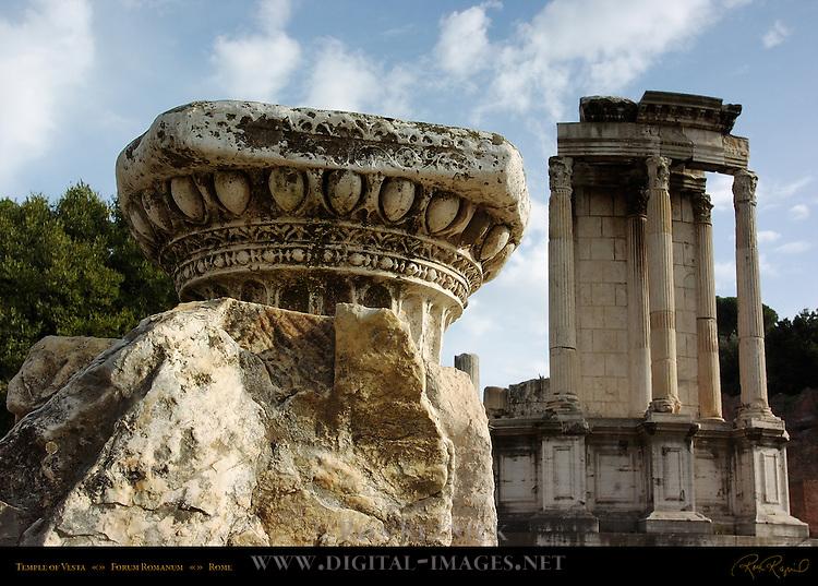 Temple of Vesta 7th c BC Forum Romanum Rome