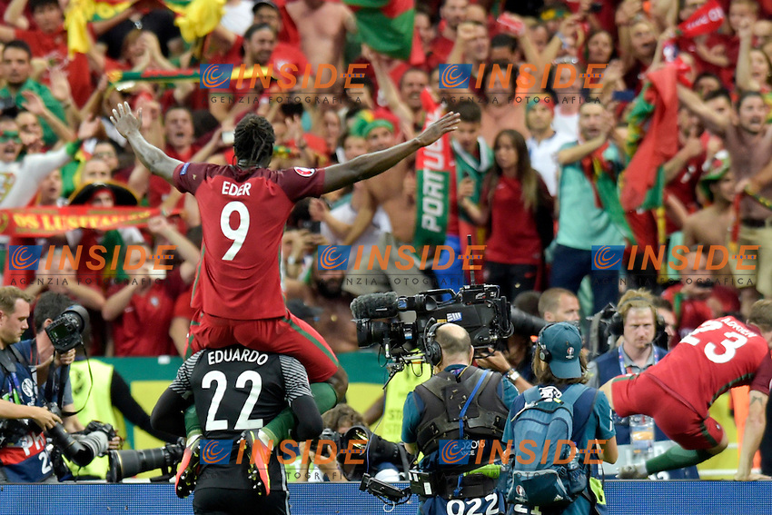 Esultanza Gol Eder (Portugal) goal celebration<br /> Paris 10-07-2016 Stade de France Football Euro2016 Portugal - France / Portogallo - Francia Finale/Finals<br /> Foto Federico Pestellini / Panoramic / Insidefoto