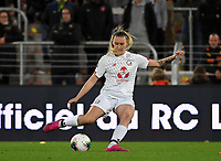 20191102 - LENS , FRANCE : LOSC's Emeline Saint-Georges pictured during the female soccer match between Arras Feminin and Lille OSC feminin, on the 8th matchday in the French Women's Ligue 2 – D2 at the Stade Bollaert Delelis stadium , Lens . Saturday 2 November 2019 PHOTO DAVID CATRY | SPORTPIX.BE