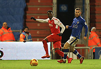 Fleetwood Town's Devante Cole (left)  and Oldham Athletic's Jack Byrne (right)  during the Sky Bet League 1 match between Oldham Athletic and Fleetwood Town at Boundary Park, Oldham, England on 26 December 2017. Photo by Juel Miah / PRiME Media Images.