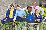 Saint Johns Parochial School, Ashe street, Tralee who were awarded their first green flag, the school recycle paper, have started a vegetable garden and use leftover food to feed hens. Pictured from left Nakita Roche, Gary Stephenson, Marie Blanche, Principal Michael Lynch and Caroline Fitzell