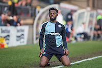 Gozie Ugwu of Wycombe Wanderers during the Sky Bet League 2 match between Wycombe Wanderers and Stevenage at Adams Park, High Wycombe, England on 12 March 2016. Photo by Andy Rowland/PRiME Media Images.