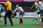 AMSTELVEEN - Mirco Pruyser (Adam) protesteert    tijdens de hoofdklasse competitiewedstrijd heren, AMSTERDAM-ROTTERDAM (2-2). . COPYRIGHT KOEN SUYK