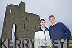 Father and Son James and Tim Lane from Limerick enjoying their visit to Ballybunion last Saturday evening.