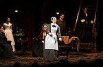 Dee Nelson, Jessica Chastain, Caitlin O'Connell, Virginia Kull, Dan Steven and Judith Ivey during the Broadway Opening Night Performance Curtain Call for 'The Heiress' at The Walter Kerr Theatre on 11/01/2012 in New York.