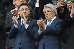 League Santander 2017/2018. Game: 28.<br /> FC Barcelona vs At. Madrid: 1-0.<br /> Josep M. Bartomeu &amp; Enrique Cerezo.