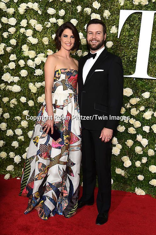 Cobie Smulders and husband Taran Killam  attend the 71st Annual  Tony Awards on June 11, 2017 at Radio City Music Hall in New York, New York, USA.<br /> <br /> photo by Robin Platzer/Twin Images<br />  <br /> phone number 212-935-0770