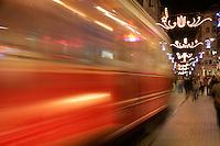 Tram on Istiklal Caddesi, Istanbul, Turkey