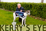 Dan Brassil, Abbeydorney, with his dog 'Feel my pulse' who won the The Boylesports Derby at the National Coursing Meeting in Clonmel at the weekend