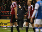 Chris Wilder manager of Sheffield Utd during the English League One match at Bramall Lane Stadium, Sheffield. Picture date: November 29th, 2016. Pic Simon Bellis/Sportimage