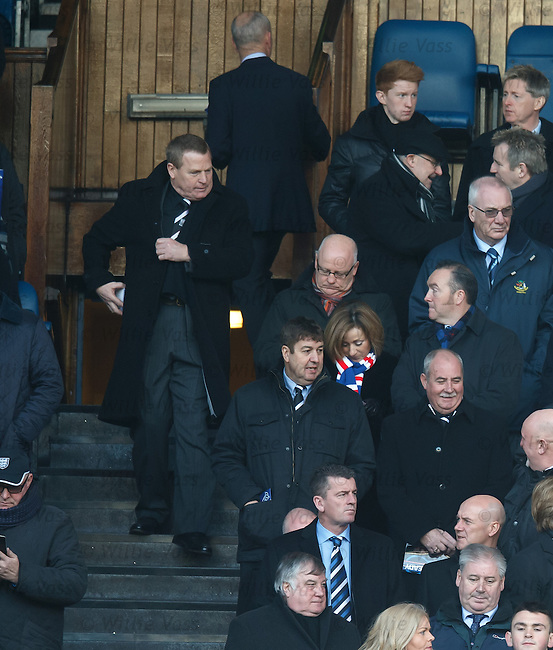 Elgin City's chairman Graham Tatters walks into the directors box to take his seat in the stand