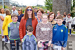 Ryan, Rory and Mary O'Leary, Sinead, Ann, Sinead and Jonathan Galvin at the opening of the Farranfore Railway Park on Sunday