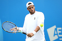 11.06.13 London, England. Feliciano Lopez (ESP) during the The Aegon Championships from the The QueenÕs Club in West Kensington.