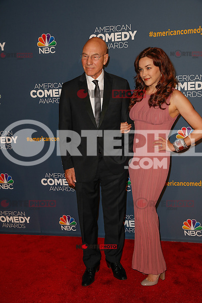 New York, New York - April 26 : Patrick Stewart and guest attend the American Comedy<br /> Awards held at the Hammerstein Ballroom in New York, New York<br /> on April 26, 2014.<br /> Photo by Brent N. Clarke / Starlitepics /NortePhoto