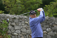 Eddie McCormack (Galway) on the 4th tee during the Final of the Barton Shield in the AIG Cups & Shields Connacht Finals 2019 in Westport Golf Club, Westport, Co. Mayo on Saturday 10th August 2019.<br /> <br /> Picture:  Thos Caffrey / www.golffile.ie<br /> <br /> All photos usage must carry mandatory copyright credit (© Golffile | Thos Caffrey)