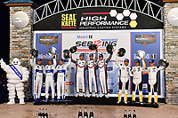 #911 PORSCHE GT TEAM (DEU) PORSCHE 911 RSR GTLM PATRICK PILET (FRA) NICK TANDY (GBR) FREDERIC MAKOWIECKI (FRA) WINNER GTLM<br /> #66 FORD CHIP GANASSI RACING (USA) FORD GT GTLM JOEY HAND (USA) DIRK MUELLER (DEU) SEBASTIEN BOURDAIS (FRA) SECOND GTLM<br /> #3 CORVETTE RACING (USA) CORVETTE C7R GTLM JAN MAGNUSSEN (DNK) ANTONIO GARCIA (ESP) MIKE ROCKENFELLER (DEU) THIRD GTLM