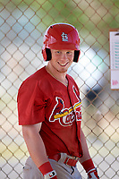 St. Louis Cardinals Bryce Denton (32) during a minor league Spring Training game against the New York Mets on March 28, 2017 at the Roger Dean Stadium Complex in Jupiter, Florida.  (Mike Janes/Four Seam Images)