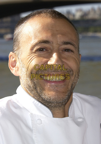 "MICHEL ROUX.Launches ""Taste of London"" a 4 day even to highlight the best of London's retaurants..Victoria Embankment, London, 8th September 2004..portrait headshot chef whites.Ref: PL.www.capitalpictures.com.sales@capitalpictures.com.©Capital Pictures."