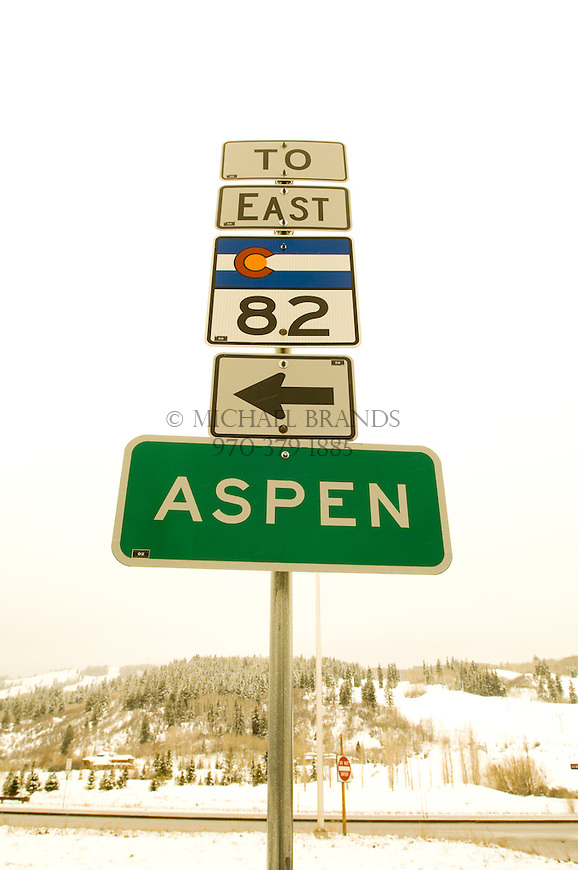 The road to Aspen, Colorado. Colorado State Highway 82. © Michael Brands. 970-379-1885.