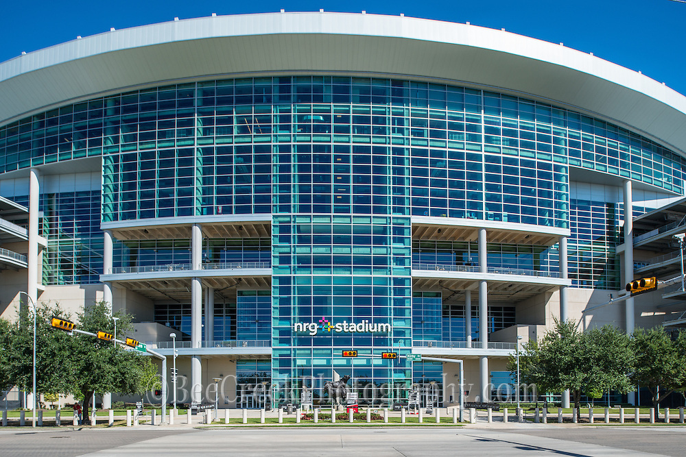 The NRG Stadium in Houston up close.