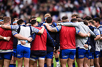 9th February 20020, Stade de France, Paris, France; 6-Nations international mens rugby union, France versus Italy;  The Italian team huddle pre-game