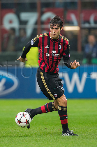 22.10.l2013. Milan, Italy. UEFA Champions League football. AC Milan versus FC Barcelona. Group stages. Kaka (Milan),  at Stadio Giuseppe Meazza in Milan, Italy.