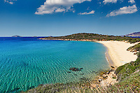 Chrisi Ammos is the most popular beach in Andros, Greece