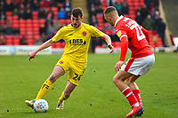 Fleetwood Town's Ashley Nadesan in action<br /> <br /> Photographer Richard Martin-Roberts/CameraSport<br /> <br /> The EFL Sky Bet League One - Barnsley v Fleetwood Town - Saturday 13th April 2019 - Oakwell - Barnsley<br /> <br /> World Copyright © 2019 CameraSport. All rights reserved. 43 Linden Ave. Countesthorpe. Leicester. England. LE8 5PG - Tel: +44 (0) 116 277 4147 - admin@camerasport.com - www.camerasport.com