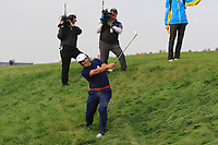 Francesco Molinari (Team Europe) on the 7th fairway during Friday Fourball at the Ryder Cup, Le Golf National, Iles-de-France, France. 28/09/2018.<br /> Picture Thos Caffrey / Golffile.ie<br /> <br /> All photo usage must carry mandatory copyright credit (© Golffile | Thos Caffrey)