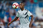 Vinicius Junior of Real Madrid warms up prior to the La Liga 2018-19 match between Real Madrid and Getafe CF at Estadio Santiago Bernabeu on August 19 2018 in Madrid, Spain. Photo by Diego Souto / Power Sport Images