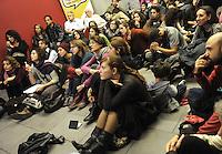 """Roma 29 Ottobre 2011.Salone dell'Editoria sociale nello spazio di """"Porta futuro"""".Platea per la Lectio Magistralis su i problemi sociali"""