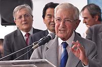 SAO PAULO, 15 DE FEVEREIRO DE 2013. - ALCKMIN REABERTURA HOSP SANTA ISABEL - O ex governador Laudo Natel durante solenidade de reabertura do Hospital Santa Isabel - Unidade Veridiana, que contou com a presença do Governador Geraldo Alckmin, na regiao central da capital, na manha desta segunda feira, 18. (FOTO: ALEXANDRE MOREIRA / BRAZIL PHOTO PRESS).