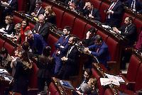 Roma, 31 Gennaio 2015<br /> Camera dei Deputati.<br /> Alla quarta votazione viene eletto Sergio Mattarella a Presidente della Repubblica. <br /> Gli scranni del centro sinistra con Boschi, Speranza, Orfini, Epifani, Guerrini in attesa del risultato