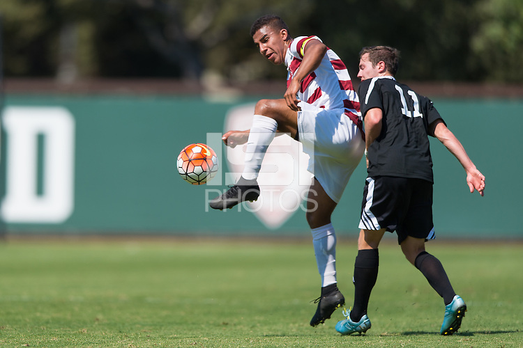 Stanford, CA - September 20, 2015: Brandon Vincent during the Stanford vs Davidson men's soccer match in Stanford, California.  The Cardinal defeated the Wildcats 1-0 in overtime.