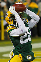Green Bay Packers cornerback Josh Hawkins (28) during a National Football League game against the Minnesota Vikings on December 23rd, 2017 at Lambeau Field in Green Bay, Wisconsin. Minnesota defeated Green Bay 16-0. (Brad Krause/Krause Sports Photography)