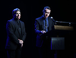 Stephen Schwartz and Andrew Lippa performing at the Dramatists Guild Foundation toast to Stephen Schwartz with a 70th Birthday Celebration Concert at The Hudson Theatre on April 23, 2018 in New York City.
