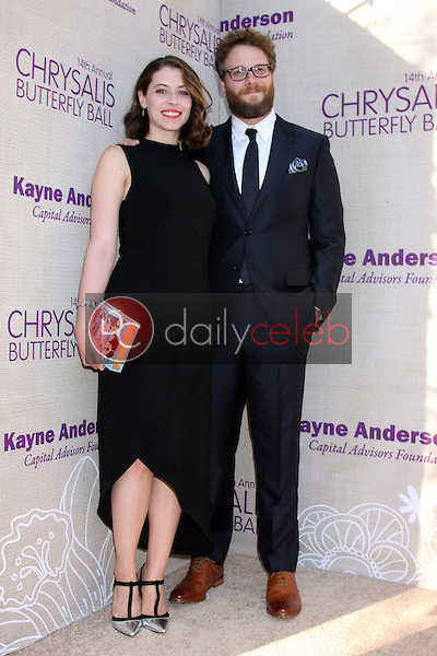Lauren Miller, Seth Rogen at the 14th Annual Chrysalis Butterfly Ball, Private Residence, Los Angeles, CA 06-06-15<br /> David Edwards/DailyCeleb.com 818-249-4998
