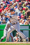 27 April 2014: San Diego Padres outfielder Chris Denorfia in action against the Washington Nationals at Nationals Park in Washington, DC. The Padres defeated the Nationals 4-2 to to split their 4-game series. Mandatory Credit: Ed Wolfstein Photo *** RAW (NEF) Image File Available ***