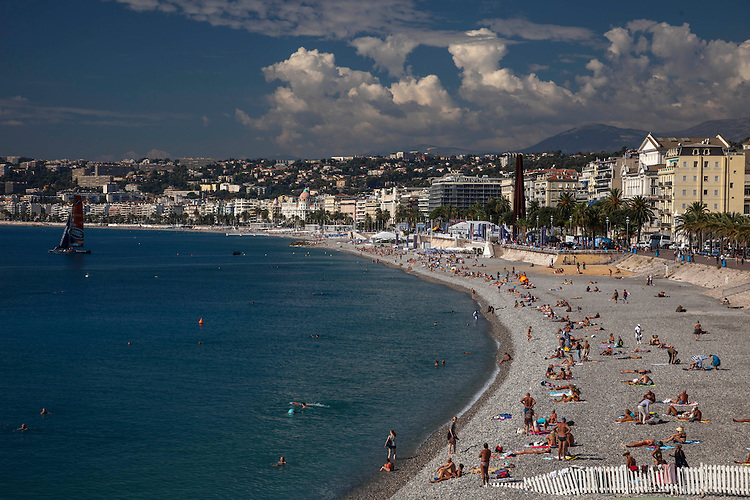 The seaside resort city of Nice combines harbors, beaches, gardens, museums, palm trees, and traffic-free restaurant and shopping areas.