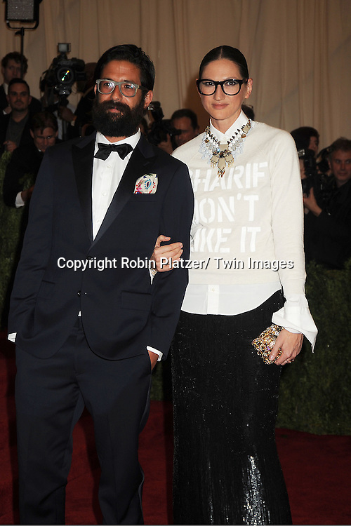 Jenna Lyons and attends  the Metropolitan Museum of Art Costume Institute Beneift celebrating the opening of  PUNK: Chaos .to Couture on May 6, 2013 in New York City.