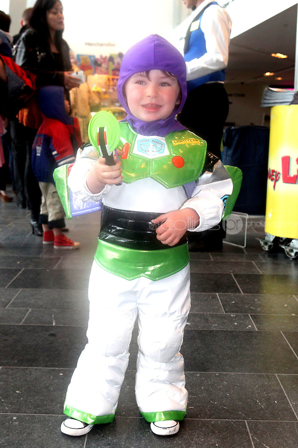 NO FEE PICTURES 5/5/11 Calvin Comey, age 3, Cabra pictured at the opening night of Disney Live! Mickeys Musical Adventure at the Grand Canal Theatre, Dublin. The spectacular stage show features all your Disney favourites and runs until this Sunday. Picture:Arthur Carron/Collins