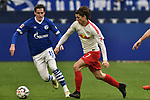 16.03.2019, VELTINS-Arena, Gelsenkirchen, GER, DFL, 1. BL, FC Schalke 04 vs RB Leipzig, DFL regulations prohibit any use of photographs as image sequences and/or quasi-video<br /> <br /> im Bild v. li. im Zweikampf Sebastian Rudy (#13, FC Schalke 04) Marcel Sabitzer (#7, RB Leipzig) <br /> <br /> Foto © nph/Mauelshagen